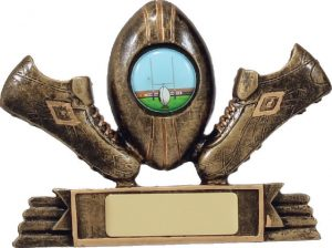 Rugby Mini Theme Gold 100mm