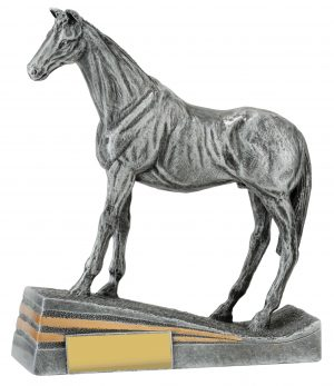 Silver Standing Horse 185mm