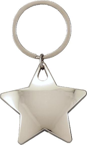 Silver Star Keychain