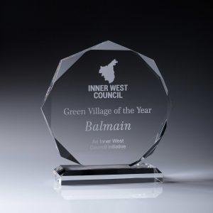 Acrylic Octagon Award 195mm