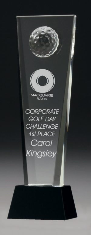 Golf Crystal Award 250mm