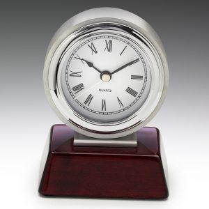 Atlas Chrome Clock 125mm