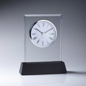 Woodcraft Glass Clock 170mm