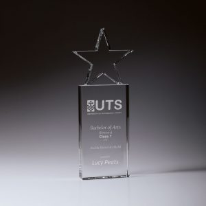 Crystal Star Award 255mm
