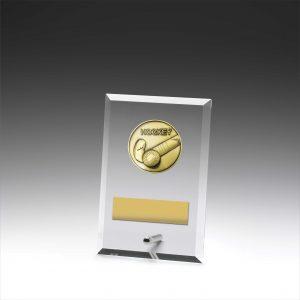 Glass Plaque Hockey 150mm