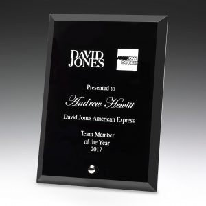 Prime Glass Plaque Black 200mm