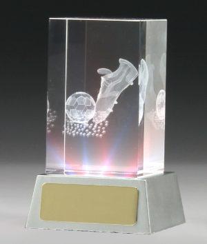 Soccer Light Up Crystal 100mm