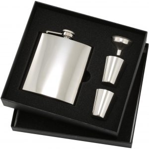 Stainless Steel Flask Premium Gift Set
