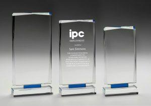 Blue Mirage Glass Award 230mm