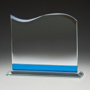 Blue Tidal Glass Award 180mm
