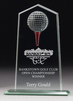 Golf Glass Tee Off 220mm