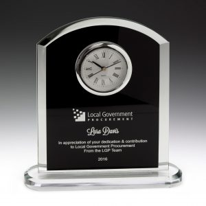 Pax Glass Clock 185mm