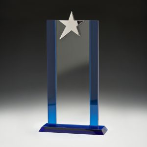 Glass Blue Star Tower 245mm