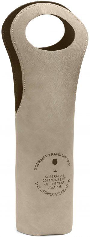 Leatherette Wine Tote Bag