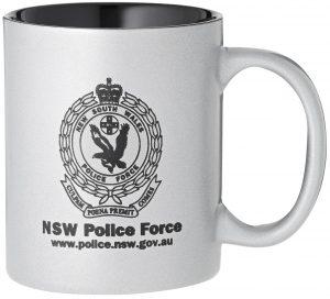 Laserable Silver Coffee Mug 325ml