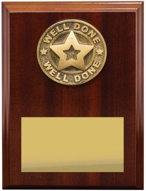 Well Done Plaque 175mm