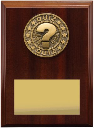 Quiz Award Plaque 175mm