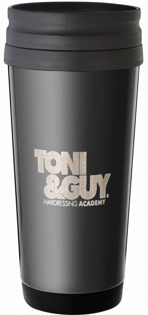 Laserable Black Travel Mug  410ml