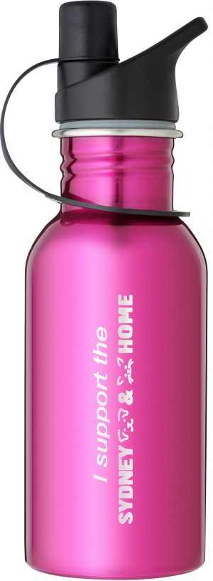 Laserable Pink Water Bottle 500ml