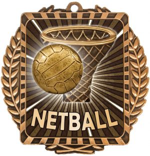 Netball Lynx Wreath Bronze