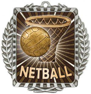 Netball Lynx Wreath Silver