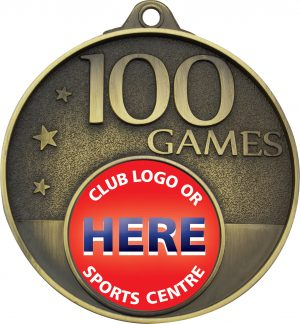 100 Games Milestone Medal Gold