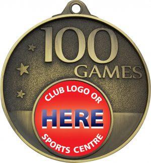 100 Games Milestone Medal Gold
