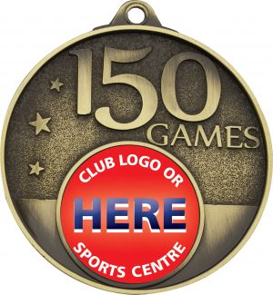 150 Games Milestone Medal Gold