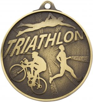 Triathlon Medal Gold