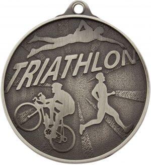 Triathlon Medal Silver