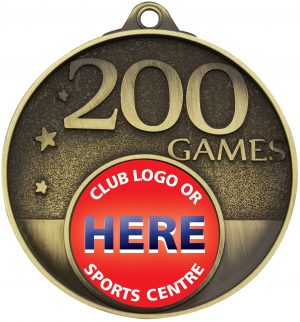 200 Games Milestone Medal Gold