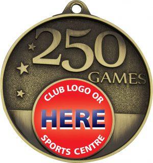 250 Games Milestone Medal Gold