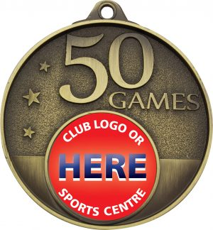 50 Games Milestone Medal Gold