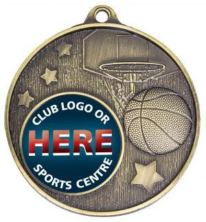 Club Medal Basketball Gold
