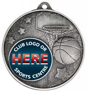 Club Medal Basketball Silver