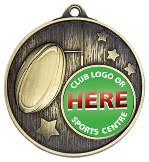 Club Medal Rugby Gold