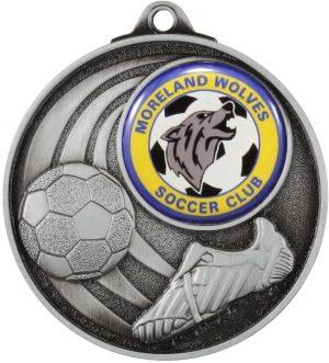 Soccer Medal - Insert Option Silver