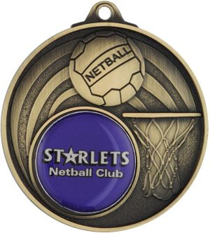 Netball Medal - Insert Option Gold