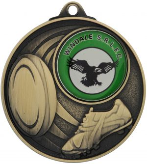 Rugby Medal - Insert Option Gold