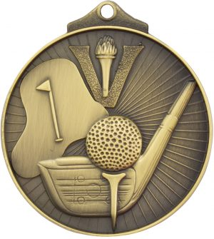 Golf Medal Gold