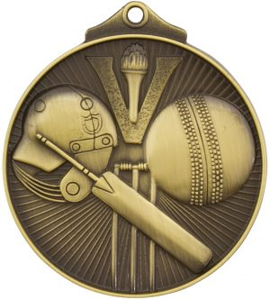 Cricket Medal Gold