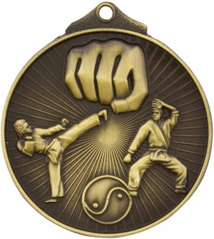 Karate Medal Gold