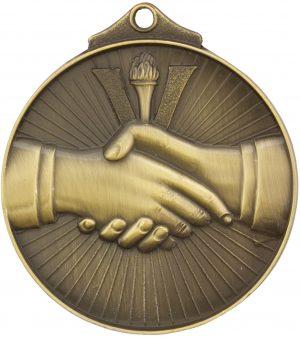 Handshake Medal Gold