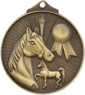 Horse Medal Gold