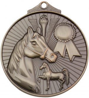Horse Medal Silver