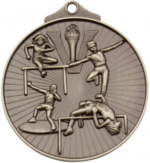 Track and Field Medal Silver