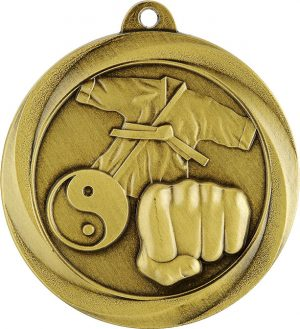 Martial Arts Econo Medal Gold