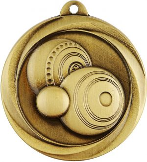 Bowls Econo Medal Gold