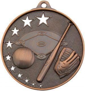 Baseball Stars Medal Bronze