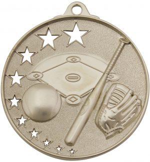 Baseball Stars Medal Silver